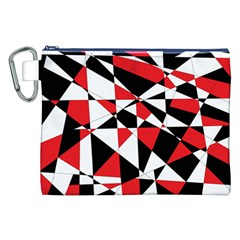 Shattered Life Tricolor Canvas Cosmetic Bag (XXL)