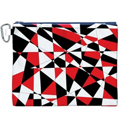 Shattered Life Tricolor Canvas Cosmetic Bag (XXXL)