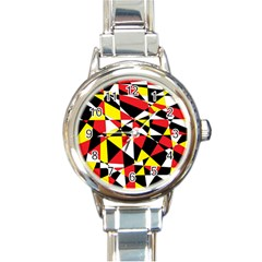 Shattered Life With Rays Of Hope Round Italian Charm Watch