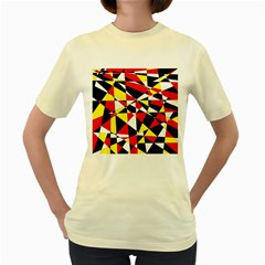 Shattered Life With Rays Of Hope Women s T Shirt (yellow)