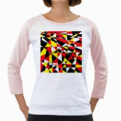 Shattered Life With Rays Of Hope Women s Long Cap Sleeve T-Shirt (White)