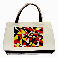 Shattered Life With Rays Of Hope Twin Sided Black Tote Bag