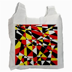 Shattered Life With Rays Of Hope White Reusable Bag (two Sides)