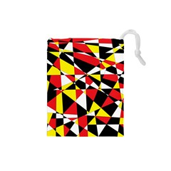 Shattered Life With Rays Of Hope Drawstring Pouch (small)