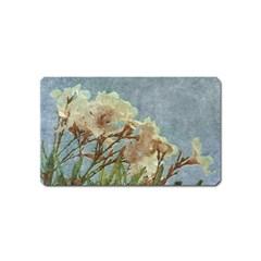 Floral Grunge Vintage Photo Magnet (name Card)