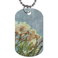 Floral Grunge Vintage Photo Dog Tag (two Sided)