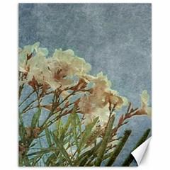 Floral Grunge Vintage Photo Canvas 11  X 14  (unframed)