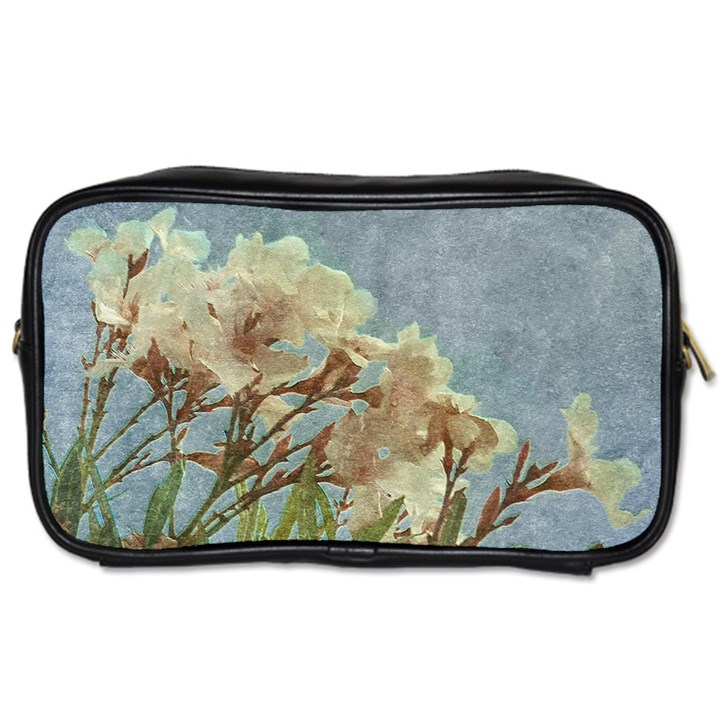 Floral Grunge Vintage Photo Travel Toiletry Bag (Two Sides)