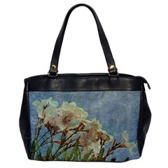 Floral Grunge Vintage Photo Oversize Office Handbag (one Side)