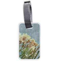 Floral Grunge Vintage Photo Luggage Tag (two Sides)
