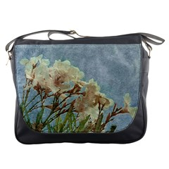 Floral Grunge Vintage Photo Messenger Bag