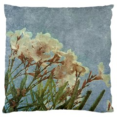 Floral Grunge Vintage Photo Large Cushion Case (two Sided)