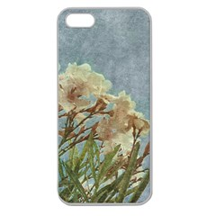 Floral Grunge Vintage Photo Apple Seamless Iphone 5 Case (clear)