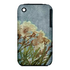 Floral Grunge Vintage Photo Apple iPhone 3G/3GS Hardshell Case (PC+Silicone)