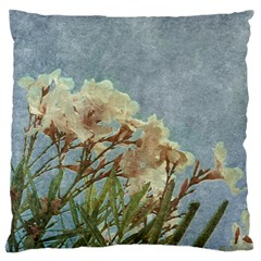 Floral Grunge Vintage Photo Large Flano Cushion Case (One Side)