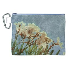 Floral Grunge Vintage Photo Canvas Cosmetic Bag (XXL)