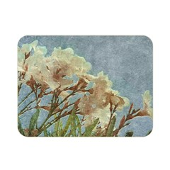 Floral Grunge Vintage Photo Double Sided Flano Blanket (Mini)