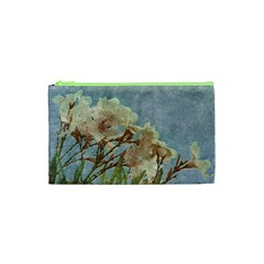 Floral Grunge Vintage Photo Cosmetic Bag (xs)