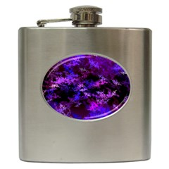 Purple Skulls Goth Storm Hip Flask