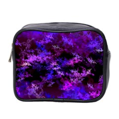 Purple Skulls Goth Storm Mini Travel Toiletry Bag (two Sides)