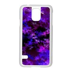 Purple Skulls Goth Storm Samsung Galaxy S5 Case (white)
