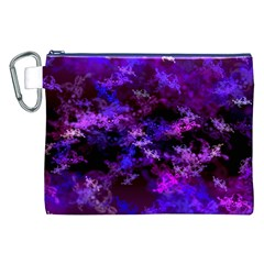 Purple Skulls Goth Storm Canvas Cosmetic Bag (xxl)