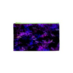 Purple Skulls Goth Storm Cosmetic Bag (XS)