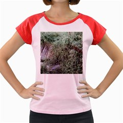 Rustic Grass Pattern Women s Cap Sleeve T-Shirt (Colored)