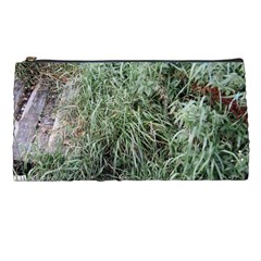 Rustic Grass Pattern Pencil Case