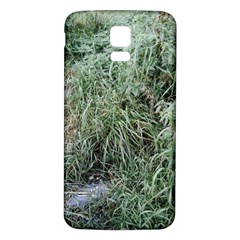 Rustic Grass Pattern Samsung Galaxy S5 Back Case (White)