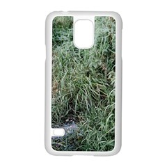 Rustic Grass Pattern Samsung Galaxy S5 Case (White)