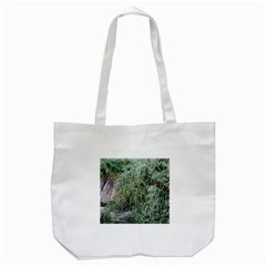 Rustic Grass Pattern Tote Bag (White)