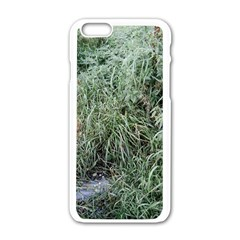 Rustic Grass Pattern Apple Iphone 6 White Enamel Case
