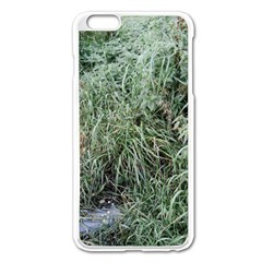 Rustic Grass Pattern Apple Iphone 6 Plus Enamel White Case