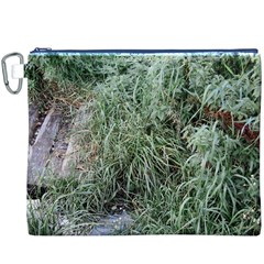 Rustic Grass Pattern Canvas Cosmetic Bag (xxxl)