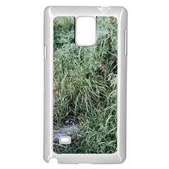 Rustic Grass Pattern Samsung Galaxy Note 4 Case (white)