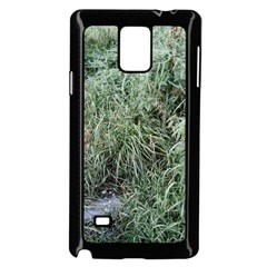 Rustic Grass Pattern Samsung Galaxy Note 4 Case (black)