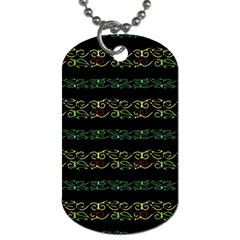 Modern Lace Stripe Pattern Dog Tag (one Sided)