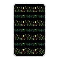 Modern Lace Stripe Pattern Memory Card Reader (rectangular)