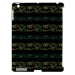 Modern Lace Stripe Pattern Apple Ipad 3/4 Hardshell Case (compatible With Smart Cover)