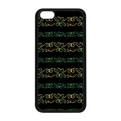 Modern Lace Stripe Pattern Apple Iphone 5c Seamless Case (black)