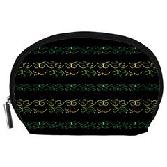Modern Lace Stripe Pattern Accessory Pouch (Large)