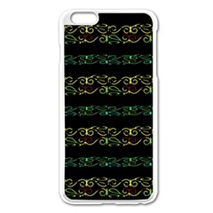 Modern Lace Stripe Pattern Apple iPhone 6 Plus Enamel White Case