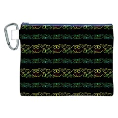Modern Lace Stripe Pattern Canvas Cosmetic Bag (XXL)