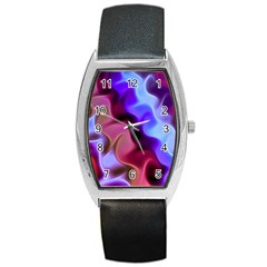 Rippling Satin Tonneau Leather Watch