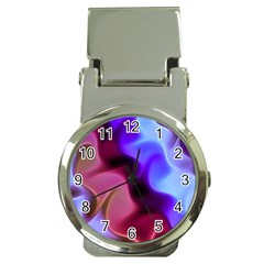Rippling Satin Money Clip With Watch
