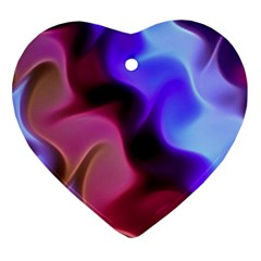 Rippling Satin Heart Ornament (two Sides)