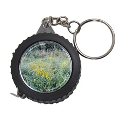 Yellow Flowers, Green Grass Nature Pattern Measuring Tape