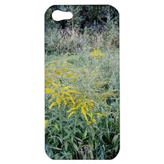 Yellow Flowers, Green Grass Nature Pattern Apple Iphone 5 Hardshell Case