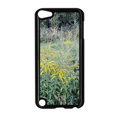Yellow Flowers, Green Grass Nature Pattern Apple Ipod Touch 5 Case (black)
